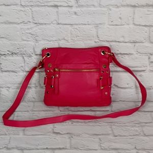 Marc Fisher pink leather crossbody bag